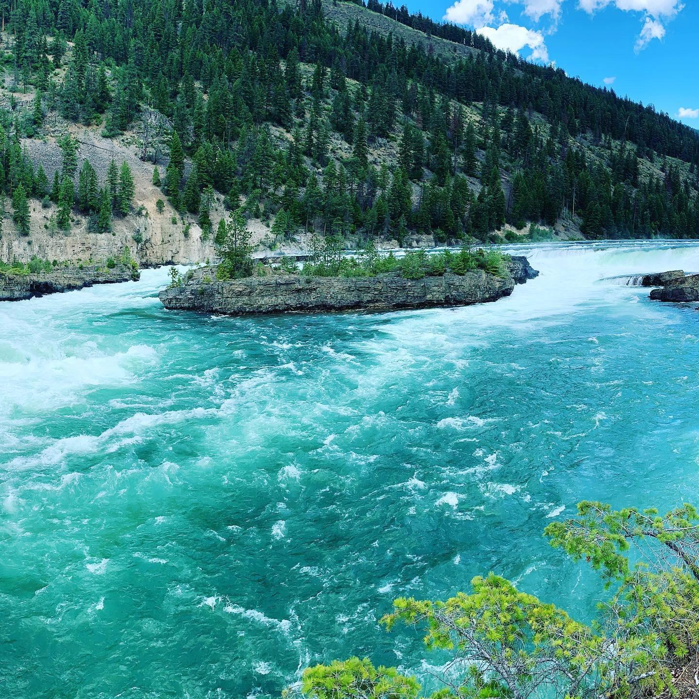 Kootenai Falls & Swinging Bridge in Spring